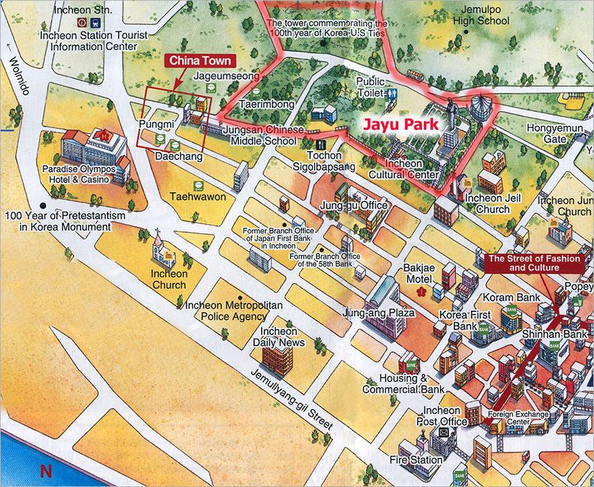 Incheon Map Jayu Park